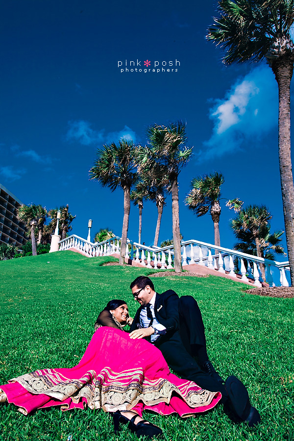 Pink Posh Engagement Photography in Galveston, Texas